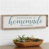 Happiness is Homemade Personalized Barnwood Frame Wall Art - 30