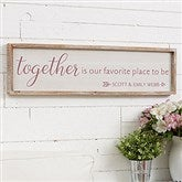 Together... Personalized Barnwood Frame Wall Art - 30