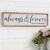 Always & Forever Personalized Barnwood Frame Wall Art - 30