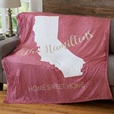 States Personalized 60x80 Fleece Blanket - 19308-L