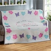 All Our Hearts Personalized Woven Throw - 19314-A
