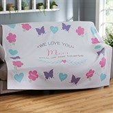 All Our Hearts Personalized 50x60 Sweatshirt Blanket - 19314-SW