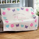 All Our Hearts Personalized 60x80 Fleece Blanket - 19314-FL