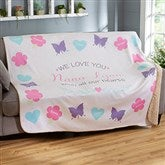 All Our Hearts Personalized 60x80 Sherpa Blanket - 19314-SL