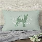 Pet Life Personalized Lumbar Throw  Pillow - 19316-LB