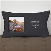 Heaven In Our Home Personalized Lumbar Memorial Throw Pillow - 19317-LB