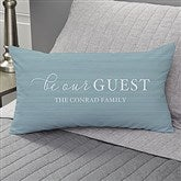 Be Our Guest Personalized Lumbar Throw Pillow - 19318-LB