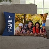 Family Love Photo Collage Personalized Lumbar Throw Pillow - 19319-LB