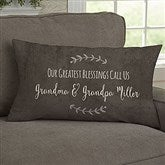 Our Grandchildren Personalized Lumbar Throw Pillow - 19323-LB