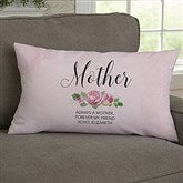 Home Is Where Mom Is Personalized Lumbar Throw Pillow - 19324-LB