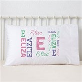 Repeating Girl Name Personalized Pillowcase - 19325