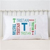 Repeating Boy Name Personalized Pillowcase - 19326