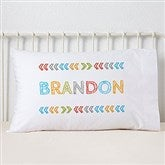 Stencil Boy Name Personalized Pillowcase - 19327