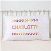 Stencil Girl Name Personalized Pillowcase - 19328