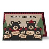 Holiday Bear Family Personalized Christmas Cards - 19342