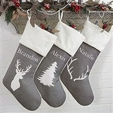 Winter Silhouette Personalized Christmas Stockings - 19349