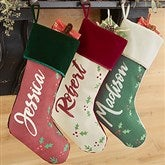Cozy Christmas Personalized Green Christmas Stocking - 19352-G