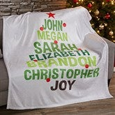 Christmas Family Tree Personalized 60x80 Fleece Blanket - 19358-L