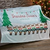 Reindeer Family Character Personalized 50x60 Fleece Blanket - 19361