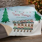 Reindeer Family Personalized Premium 50x60 Sherpa Blanket - 19365