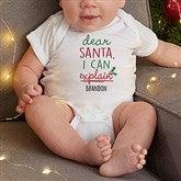 Dear Santa Personalized Baby Bodysuit - 19372-CBB
