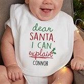 Dear Santa Personalized Infant Bib - 19372-B