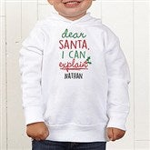 Dear Santa Personalized Toddler Hooded Sweatshirt - 19372-CTHS