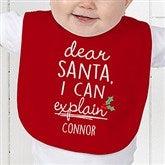 Dear Santa Personalized Baby Bib - 19372-B