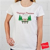 Reindeer Family Personalized Ladies Fitted Tee - 19379-FT