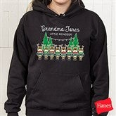 Reindeer Family Personalized Black Hooded Sweatshirt - 19379-BHS