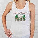 Reindeer Family Personalized White Tank - 19379-WT