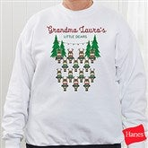 Reindeer Family Personalized White Sweatshirt - 19379-WS