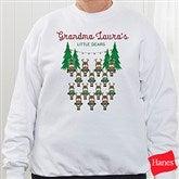 Reindeer Family Personalized White Sweatshirt - 19379-WS