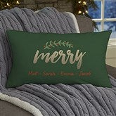 Cozy Christmas Personalized Lumbar Throw Pillow - 19380-LB
