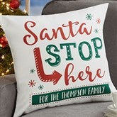 Santa Stop Here Personalized 18