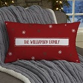 Santa Stop Here Personalized Lumbar Throw Pillow - 19382-LB