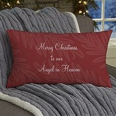 Christmas In Heaven Personalized Lumbar Throw Pillow - 19384-LB
