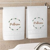 Cozy Christmas Personalized Linen Towel Set - 19385