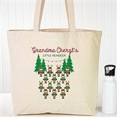 Reindeer Family Character Personalized Canvas Tote - 19387