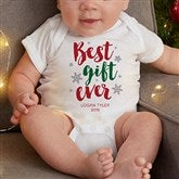 Best Gift Ever Personalized Christmas Baby Bodysuit - 19393-CBB