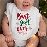 Best Gift Ever Personalized Christmas Bib - 19393-B
