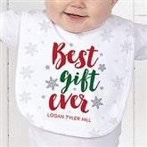 Best Gift Ever Personalized Christmas Baby Bib - 19393-B