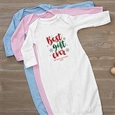 Best Gift Ever Personalized Christmas Baby Gown - 19393-G