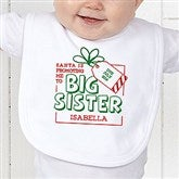 Promoted By Santa Personalized Infant Bib - 19394-B