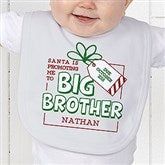 Promoted By Santa Personalized Baby Bib - 19394-B