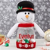 Christmas Cheer Personalized Candy Jar- Snowman - 19395-SN