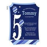 Birthday Boy Personalized Birthday Invitation - 19400
