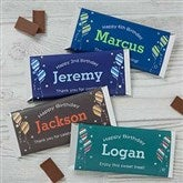 Birthday Boy Personalized Candy Bar Wrappers - 19402
