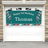 Birthday Boy Personalized Party Banner - 19404