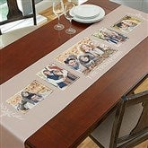 Family Photo Collage Personalized Table Runner - 5 Photo - 19425-5